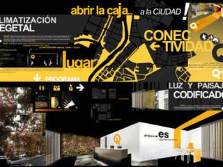 Abrir la Caja, PRIMER PREMIO ARQUIA, CAJA DE ARQUITECTOS, VALLADOLID:  de estilo  de Angel Melero Hurtado