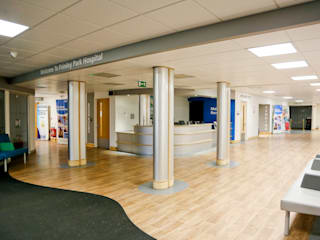 Main Reception, NHS Hospital Hospitals by Koubou Interiors