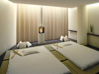 Kamineinbau im Relaxraum:  Spa von Cult Fire International Sales GmbH