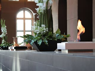 Feuerstellen im Foyer eines Luxushotels:   von Cult Fire International Sales GmbH