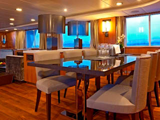 40m Super Yacht Classic style dining room by Amber Design Classic