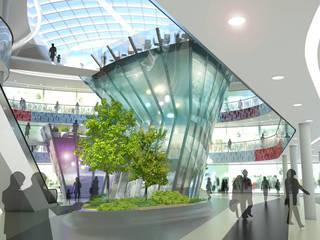 Centro Comercial Milaneo en la plaza Mailänder Platz Centros comerciales de estilo moderno de TBI Architecture & Engineering Moderno