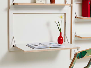 Fläpps Wall Desk AMBIVALENZ Study/officeDesks Plywood White