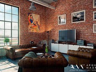 industriële Studeerkamer/kantoor door Arquitectos Madrid 2.0