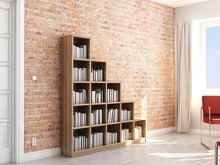 perfektes Design aus Eiche Massivholz:  Wohnzimmer von Pickawood GmbH