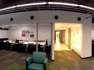 Oficinas MB: Oficinas y tiendas de estilo  por Taller Arquitectura Objetiva