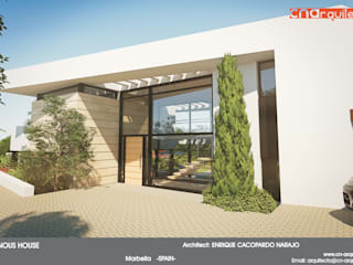 Diaphanous House: Casas de estilo  de CN ARQUITECTURA