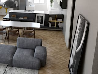 N-House: Zona Giorno_zoom: Case in stile in stile Minimalista di RNDR Studio