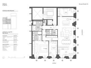 N-House: Planimetria: Case in stile in stile Minimalista di RNDR Studio