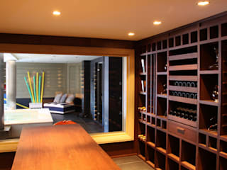 Degré 12 Modern wine cellar Wood