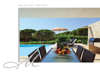 Holiday House in Vale do Lobo الغرف من Maria Raposo Interior Design