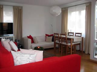 Décoration d'un appartement à Freiburg, Allemagne: Maisons de style  par Denitsa Hristova