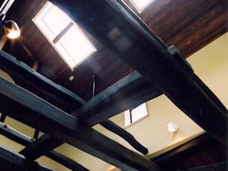 古民家再生の家: 株式会社古田建築設計事務所が手掛けたリビングです。
