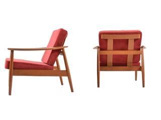 Pair of Arne Vodder Easychairs:  Wohnzimmer von Room of Art
