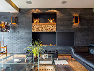 Sobrado + Ugalde Arquitectos Eclectic style living room