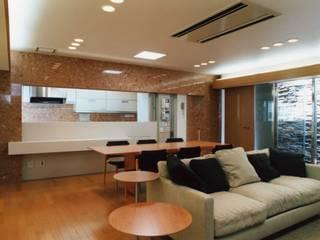 外観の無い家 オリジナルデザインの リビング の PAPA COMPANY ARCHITECTURAL WORKS. /パパカンパニー1級建築士事務所 オリジナル
