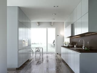 Alea Kitchen:  in stile  di ENGRAM STUDIO - Virtual Sets portfolio