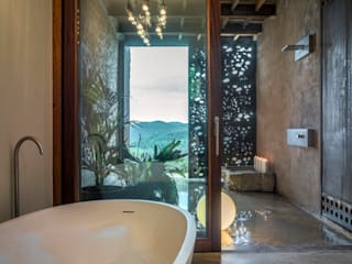 Villa CP Rustic style bathroom by ZEST Architecture Rustic