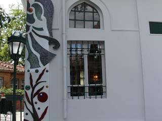 """Mozaik Sanat Evi – Caferiye tekkesi """"İstanbul Bir Masal"""" Mozaik Cephe projesi:  tarz Duvarlar"""