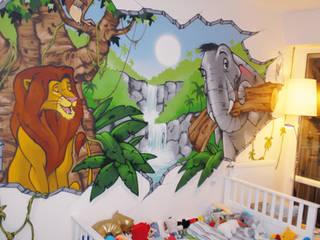 Décoration chambre d'enfant thème jungle par Popek décoration Éclectique