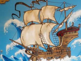 Décoration chambre d'enfant thème pirate par Popek décoration Éclectique