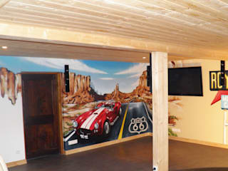 Décoration salon thème route 66 par Popek décoration Éclectique