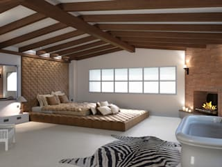 Colonial style bedroom by Realistic-design Colonial