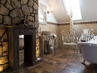 k.halemska Rustic style bathrooms