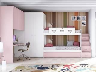 Litera adaptada Dormitorios infantiles de estilo moderno de Toca Fusta Moderno
