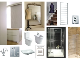Initial inspiration board for the space:   by Concept Interior Design & Decoration Ltd
