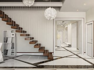 Modern Corridor, Hallway and Staircase by Студия Искандарова Modern