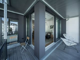 Balcon, Veranda & Terrasse originaux par edit home staging Éclectique