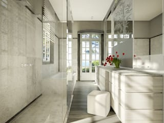 Classic style bathroom by Berga&Gonzalez - arquitectura y render Classic