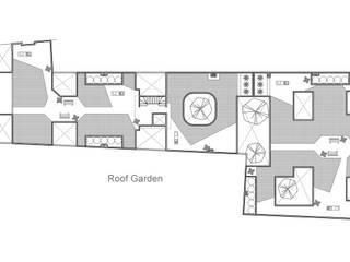 Planta Roof Garden: Casas de estilo  por RECON Arquitectura