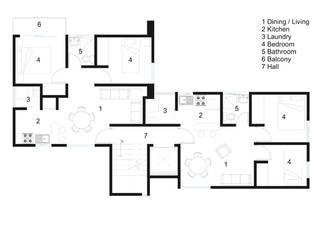 Melchor Ocampo Casas modernas de RECON Arquitectura Moderno
