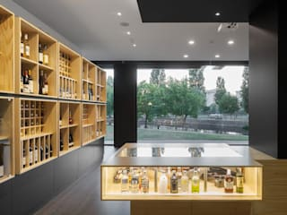 Bottles' Congress 미니멀리스트 와인 저장고 by Tiago do Vale Arquitectos 미니멀