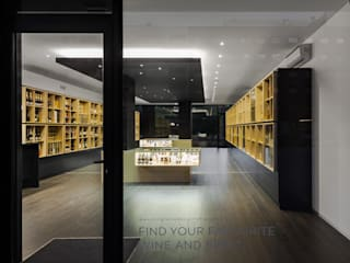 Bottles' Congress Minimalist wine cellar by Tiago do Vale Arquitectos Minimalist