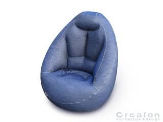 HELIUM ARMCHAIR - BLUE JEANS:   von CREATON design