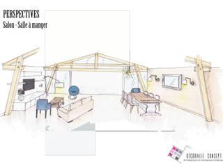 Maison LOFT Salon moderne par Décoralie Concept Moderne