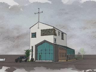 속초 00교회: 건축사사무소 이레EL의 미니멀리스트 ,미니멀