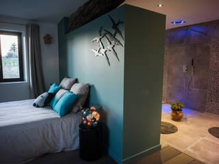 Chambre salle de bain semi- ouverte: Chambre de style de style Moderne par MS Fabrique