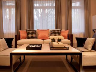 Hans Place: Knightsbridge Roselind Wilson Design Livings de estilo clásico