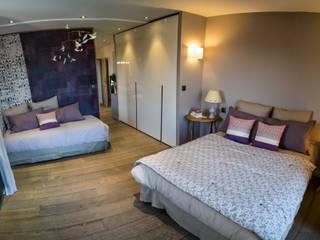 Chambre salle de bain semi- ouverte Chambre moderne par MS Fabrique Moderne