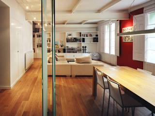 Apartamento LB MAGEN ARQUITECTOS Salones de estilo moderno