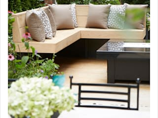 Knightsbridge Roof Terrace - Aralia Garden Design Modern commercial spaces by Aralia Modern Iron/Steel