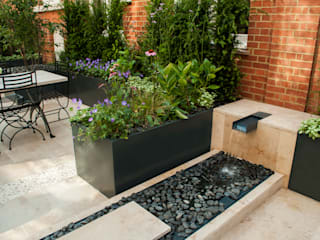 Knightsbridge Roof Terrace - Aralia Garden Design Modern commercial spaces by Aralia Modern Stone