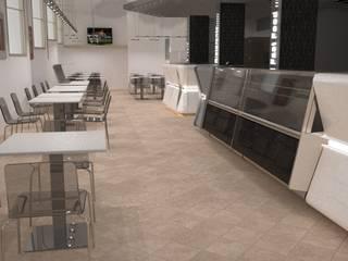 arredamento ristorante pizzeria: Negozi & Locali Commerciali in stile  di STUDIO ARCHITETTURA-Designer1995  ,