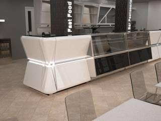 rendering arredamento ristorante: Negozi & Locali Commerciali in stile  di STUDIO ARCHITETTURA-Designer1995  ,