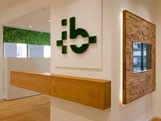 Firmen-Logo aus echtem Gras:  Bürogebäude von armbruster innenarchitektur