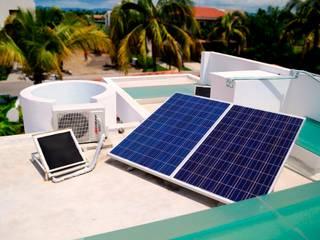 paneles solares fotovoltaicos: Casas de estilo moderno por Excelencia en Diseño